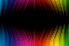 De lijnen van het spectrum op zwarte vector illustratie