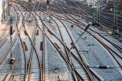 De lijnen van het spoorwegspoor Royalty-vrije Stock Fotografie