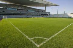 De Lijnen van het stadion en van het Voetbal Stock Afbeeldingen