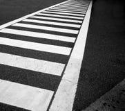 De lijnen van het verkeer op asfalt Stock Afbeeldingen