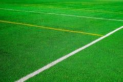 De lijnen van het voetbalgebied stock afbeeldingen