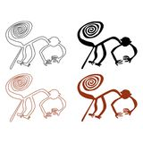De lijnen van Nazca Royalty-vrije Stock Foto's