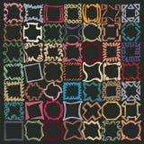 De lijnen van de Squigglyteller baseerden rustiek die patroon, uit squarishschetsen wordt samengesteld, lijnen Stock Fotografie