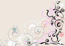 De lijnenachtergrond van Curvy Stock Afbeelding