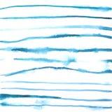 De lijnenachtergrond van de waterverf blauwe vrije hand stock illustratie