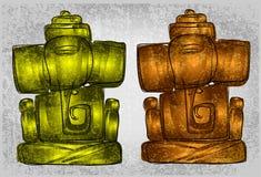 De lijnkunst van Lordganesha voor groetkaart Royalty-vrije Stock Foto's