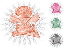 De lijnkunst van Lordganesha voor groetkaart Stock Afbeelding