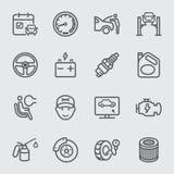 De lijnpictogram van de autodiensten Royalty-vrije Stock Afbeeldingen