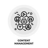 De Lijnpictogram van het inhoudsbeheer stock illustratie