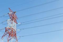 De lijnpyloon van de elektriciteitsmacht Royalty-vrije Stock Foto's