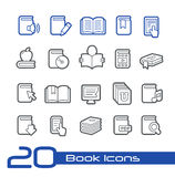 De Lijnreeks van //van boekpictogrammen Stock Afbeeldingen