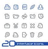 De Lijnreeks van //van interfacepictogrammen Royalty-vrije Stock Afbeeldingen