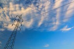 De lijnToren van de macht Stock Foto's