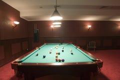 De lijst en de ballen van de pool Stock Fotografie