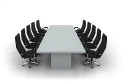 De lijst en de stoelen van de conferentie Vector Illustratie