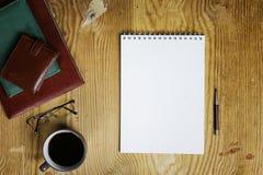 De lijst schrijft de mening van het handbureau Royalty-vrije Stock Afbeelding