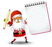 De Lijst van de Blocnote van de Kerstman stock illustratie