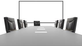 De Lijst van de bureauconferentie en Witte Raad royalty-vrije illustratie