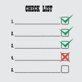 De lijst van de controle Royalty-vrije Stock Afbeelding