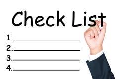 De lijst van de controle Stock Foto's