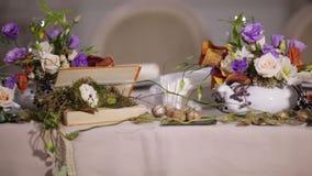 De lijst van de detailsdecoratie met bloemen stock footage