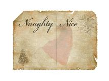 De lijst van de kerstman Stock Fotografie