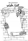 De lijst van de Kerstmiswens Royalty-vrije Illustratie