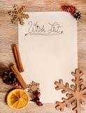 De lijst van de Kerstmiswens Royalty-vrije Stock Fotografie