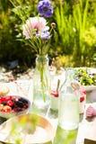 De lijst van de picknick in openlucht Stock Foto's