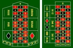 De lijst van de roulette royalty-vrije illustratie