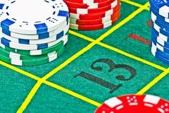 De lijst van de roulette Royalty-vrije Stock Foto's