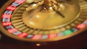 De lijst van de roulette stock footage