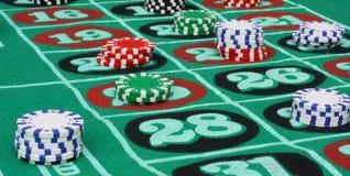 De Lijst van de roulette royalty-vrije stock foto