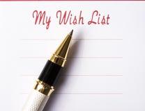 De Lijst van de wens Stock Foto