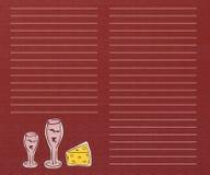 De lijst van de wijn Stock Foto