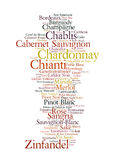 De Lijst van de wijn royalty-vrije illustratie
