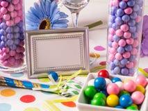 De Lijst van het Buffet van het Suikergoed van de partij stock afbeeldingen