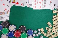 De lijst van het casino Stock Afbeeldingen