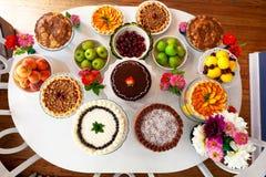 De lijst van het dessert Stock Afbeeldingen