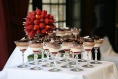 De Lijst van het dessert Stock Afbeelding