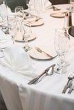 De lijst van het diner Stock Foto