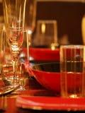 De lijst van het diner Stock Afbeeldingen
