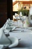 De lijst van het diner royalty-vrije stock afbeelding