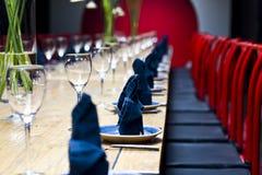 De lijst van het diner Stock Foto's