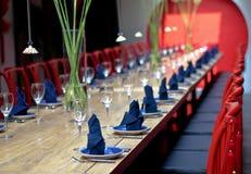 De lijst van het diner Royalty-vrije Stock Afbeeldingen