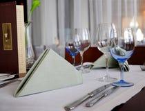 De lijst van het diner het plaatsen Stock Foto
