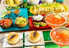 De lijst van het fiestabuffet stock afbeelding