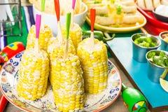 De lijst van het fiestabuffet stock fotografie
