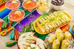 De lijst van het fiestabuffet royalty-vrije stock foto's