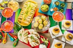 De lijst van het fiestabuffet royalty-vrije stock fotografie